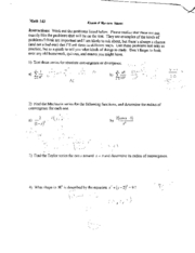 math143 f03 exam review sheet