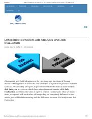Difference Between Job Analysis and Job Evaluation (with Comparison Chart) - Key Differences