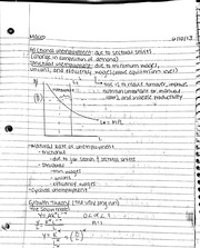Growth theory and types of unemployment notes