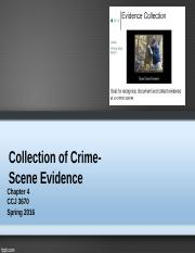 chapter 4 Collection of Crime-Scene Evidence