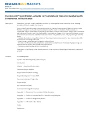 investment_project_design_a_guide_to_financial