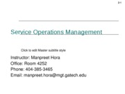 Service ops mgt Week1_Session2_Services Management
