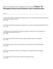 Chapter 18--Managing Interp