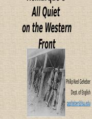 Geheber All Quiet on the Western Front lecture2