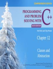 CSC 511 - 01 - CHAPTER 12 - CLASSES & ABSTRACTION