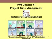 PMI Chapter 6 Project Time Management