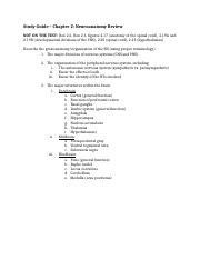 0. Neuroanatomy Review Study Guide.docx
