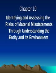 Chapter 10 Identifying and Assessing the Risks of Material Misstatements.ppt