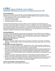 MED 9685 Syllabus - Rational and Safe Prescribing