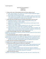 Dietetics Chapter 22 Study Guide