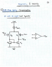 Topic 15 - compensation - One-Stage Opamp