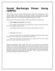 Surat Berharga Pasar Uangdocx Surat Berhargasbpu Pasar