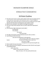 20 Point Outline