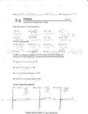 Algebra 2 Test 2 - lonors Algebra2 Second Properties of Logorithms ...