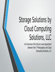 Storage Solutions by Cloud Computing Solutions, LLC