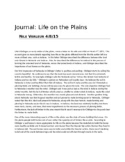 Journal life on the plains.docx