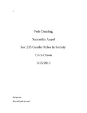 pole dancing paper