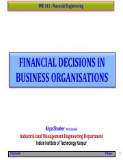 IME611 - 4.2 Financial Decisions Process - Investment Science