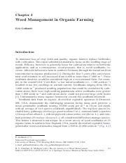 19. Gallandt (2014) Weed Management In Organic Farming