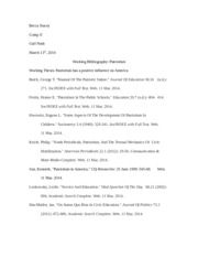 Working bibliography 2