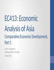 2 Comparative Economic Development - We