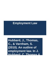 Week 6 Lecture 12 Employment Law