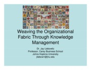 Weaving the Organizational Fabric through KM