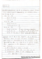 MAT 336 - Binary Operation Notes