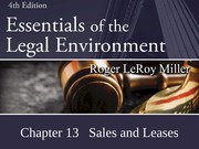 Ch. 13 Sales and Leases