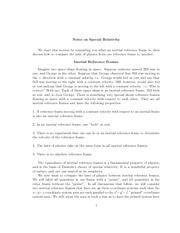 Notes on Special Relativity