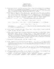 MATH 251 Assignment 5 Solutions
