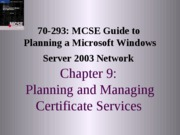 Planning A Microsoft Windows Server 2003 Network Chapter 09