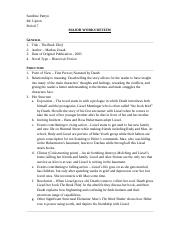 characteristics of jem finch