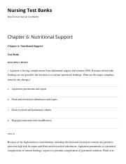 Chapter 6 Nutritional Support Nursing Test Banks.pdf