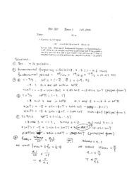Fall 2009 Exam 1 Solutions
