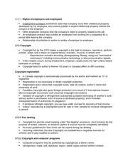 Chapter 17 Rights of employers and employees Notes