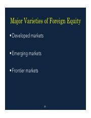 3.Investments Foreign Equities Fall 16