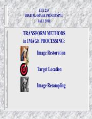 TRANSFORM DOMAIN APPROACH TO IMAGE PROCESSING