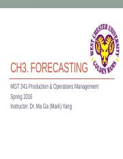 Ch3. Forecasting [Lecture PPT]
