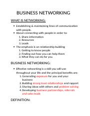 BUSINESS NETWORKING.docx
