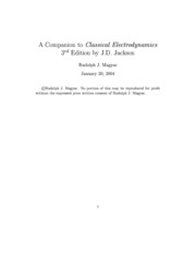 A Companion to Classical Electrodynamics 2004