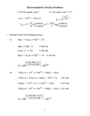 Solutions-Electrochemistry Practice Problems