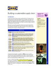 IKEA Sustainable Supply Chain