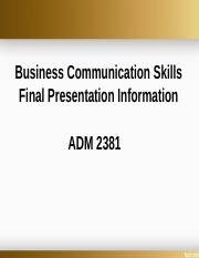 ADM 2381 Final presentation  summer 2017.ppt