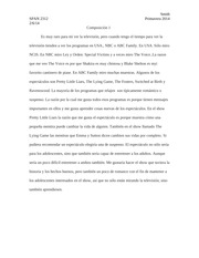 Composición 1 Spring 2014 (second draft)