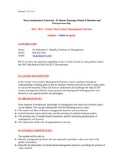 MGT 5012 - Syllabus - 21st Century Mgmt Practices- Online - Dr Mujtaba- 07 07 2014