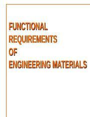 Chap VIIA - Functional requirements of Engg. Materials.ppt