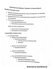 Usefulness issues of Financial Reports handout