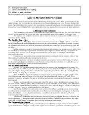 Apple vs. The United States Government article