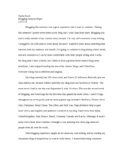 Blogging Analysis Paper PR